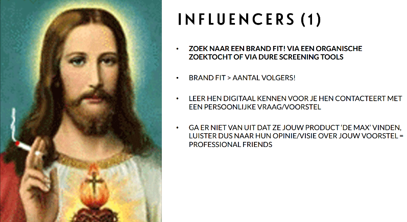 Public Relations: influencers