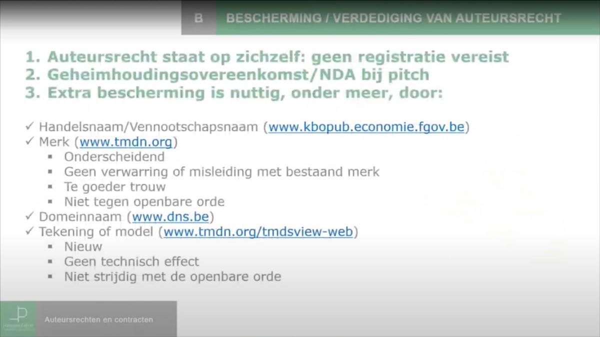 Auteursrechten, licentie en overdracht: bescherming van het auteursrecht