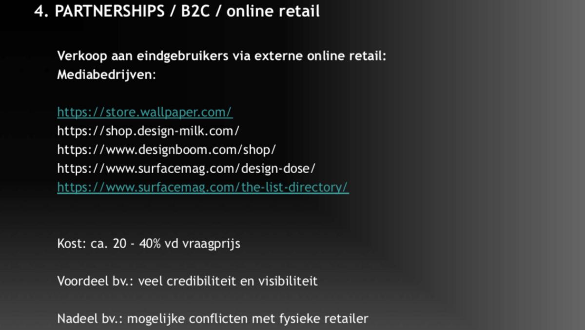 Design verkopen: directe verkoop via een digitaal verkooppunt van een derde