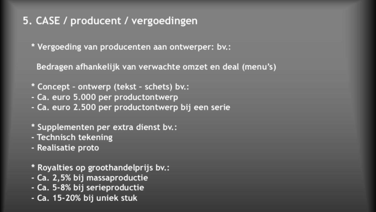 Design verkopen: werken met een producent