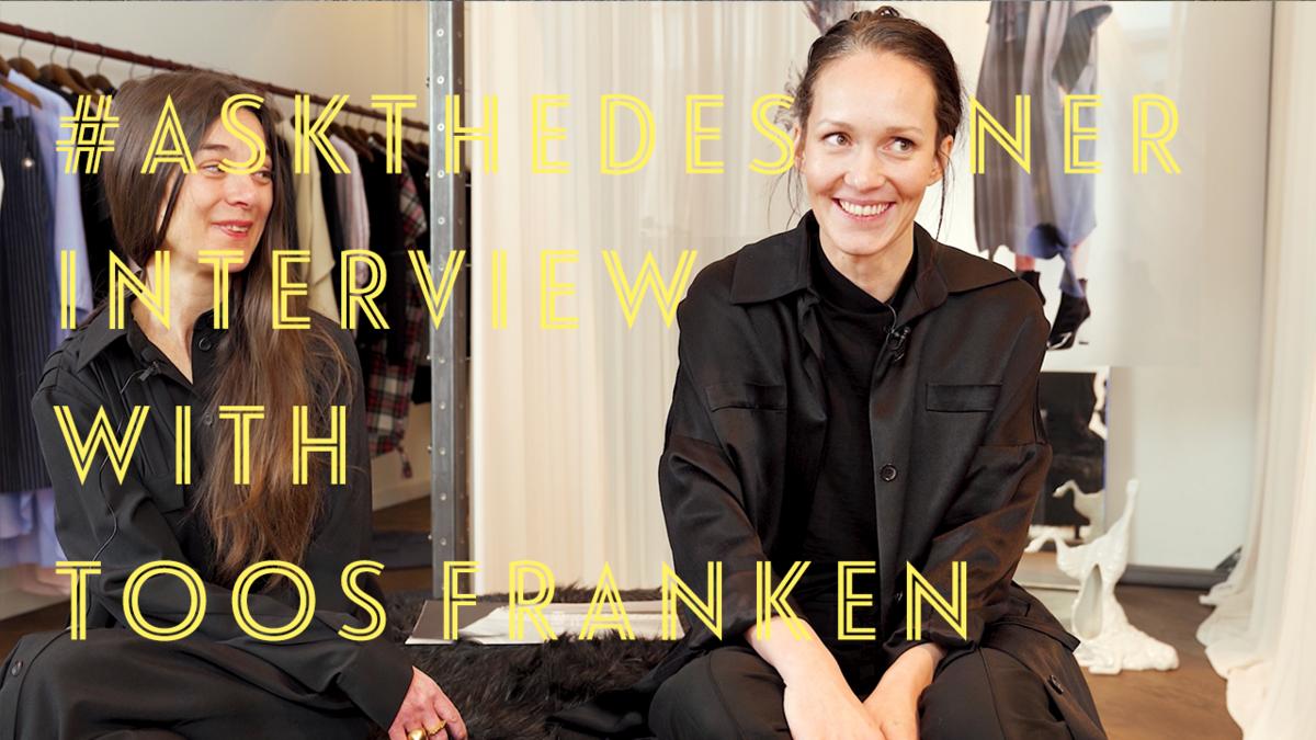 #askthedesigner with fashion designer Toos Franken