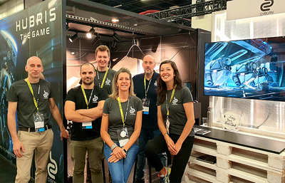 The Cyborn team at gamescom, 2019