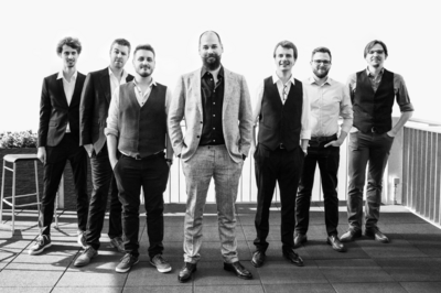 Het team van LuGus Studios, met in het midden Kevin Haelterman