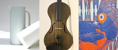 Lyne, Strijkinstrumenten uit Vlas, Caméléon (© Filip Dujardin)